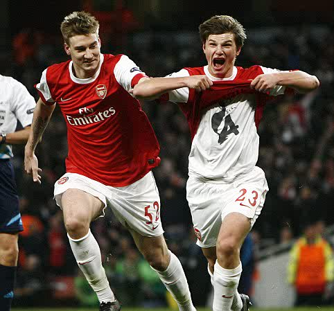 Arshavin after bagging the winner