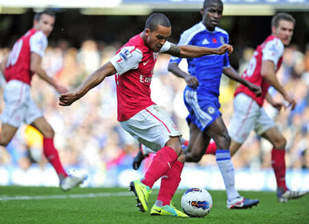 Theo Destroying Chelsea Earlier This Season